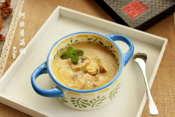 阿胶蘑菇粥