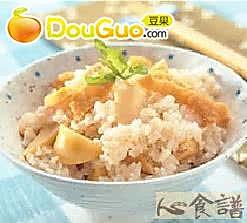 笋香豆皮饭的做法
