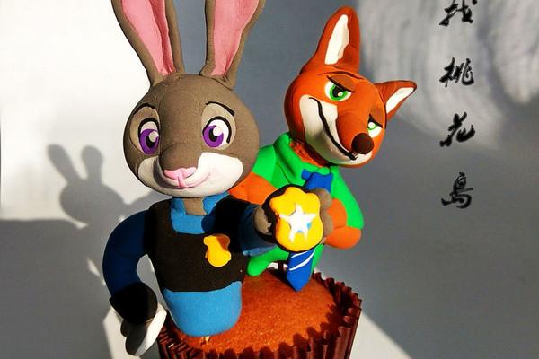 疯狂动物城翻糖杯蛋糕#最萌缤纷儿童节