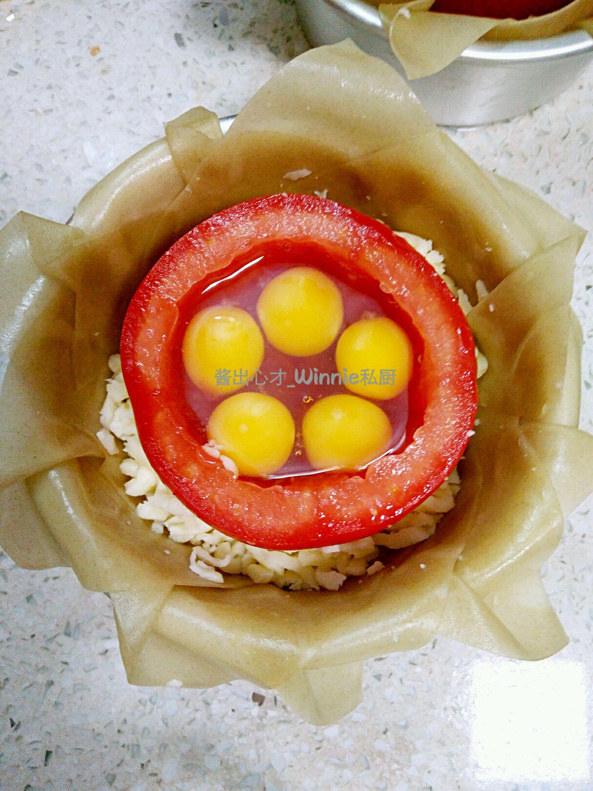 【花儿西红柿】–【脆皮芝士花儿西红柿蛋盅】的做法图解6
