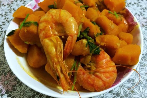 南瓜海虾的做法_【图解】南瓜海虾怎么做如何做好吃