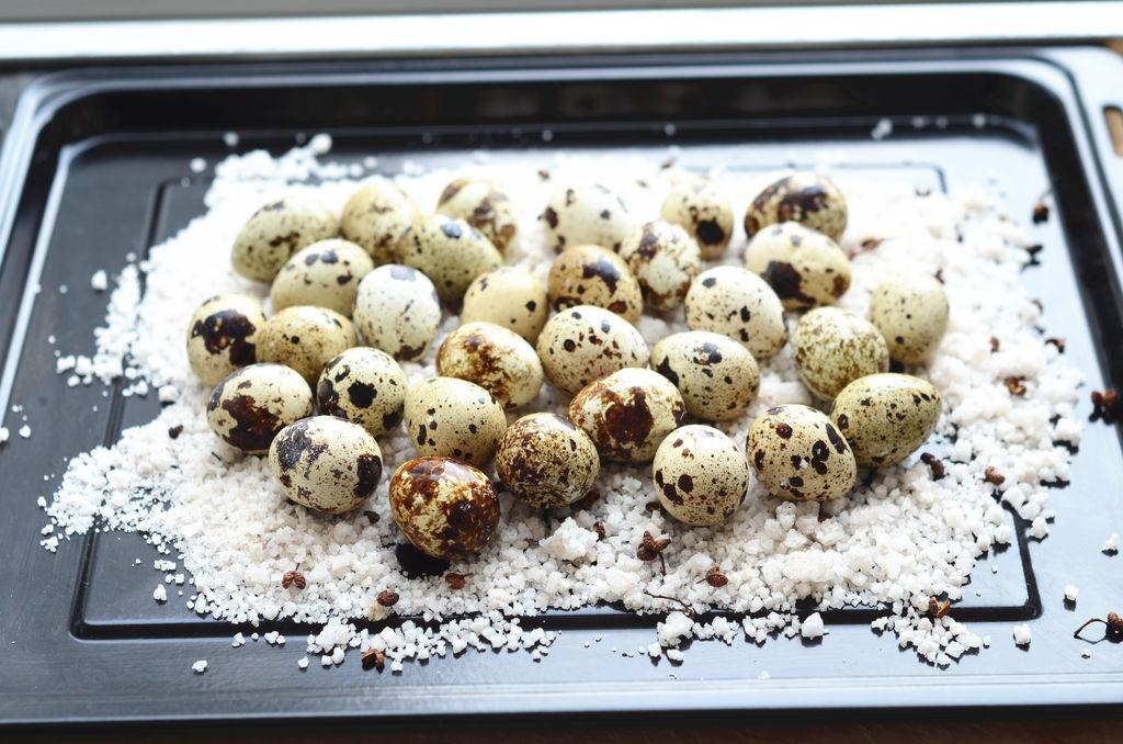 盐烤箱蛋#美的菜谱鹌鹑v烤箱燕麦片如何吃图片