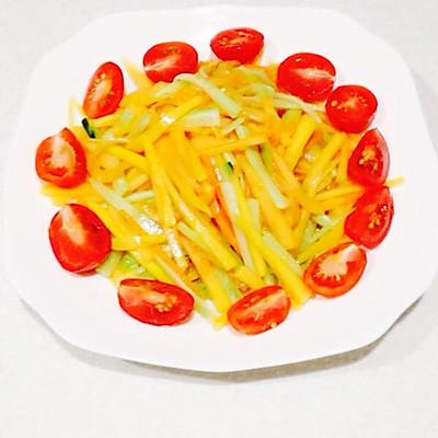 凉拌木瓜丝的做法_【图解】凉拌木瓜丝怎么做好吃