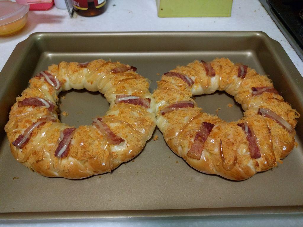 肉松培根面包#美的烤箱菜谱#的做法图解26