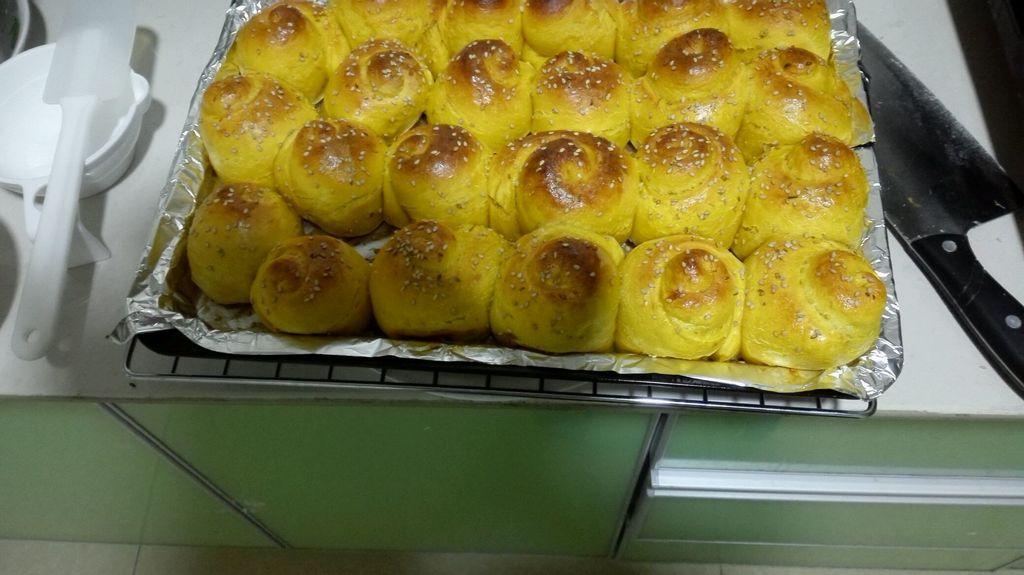 南瓜蜂蜜小面包的做法图解9