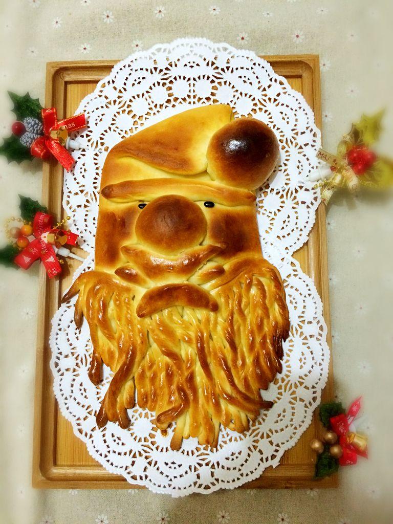 幼儿园手工蛋糕盘圣诞老人图片