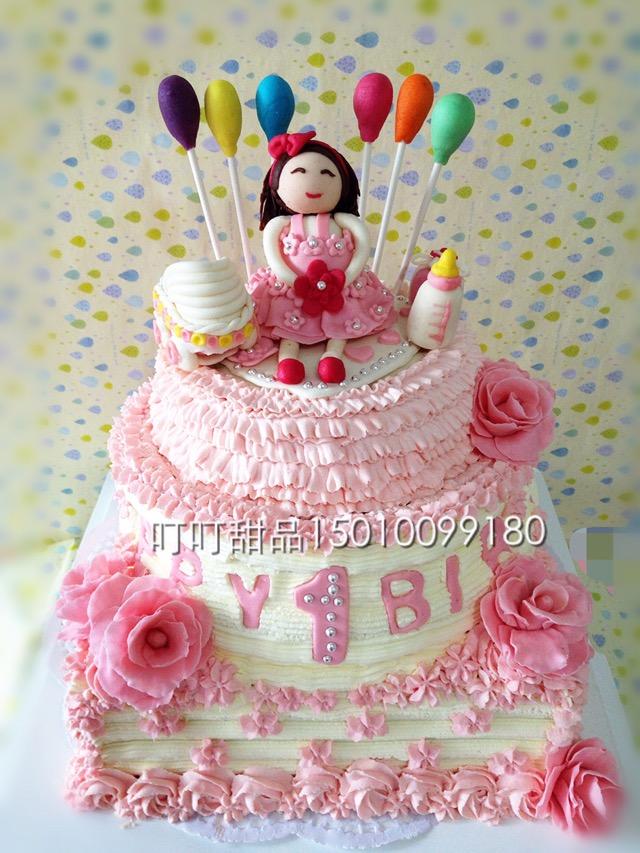 可爱水果娃娃蛋糕图片