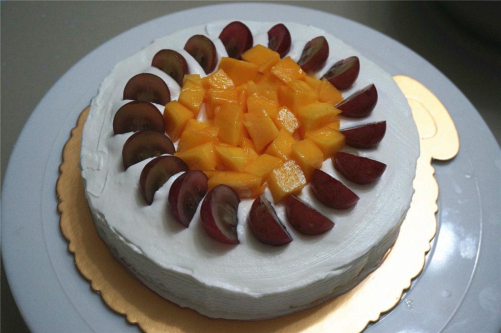 水果彩虹生日蛋糕的做法图解19