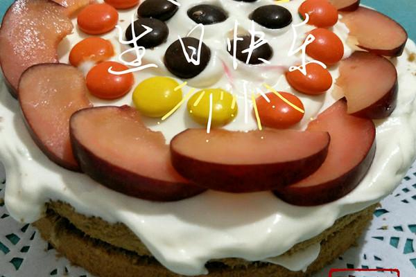 水果动物蛋糕图片