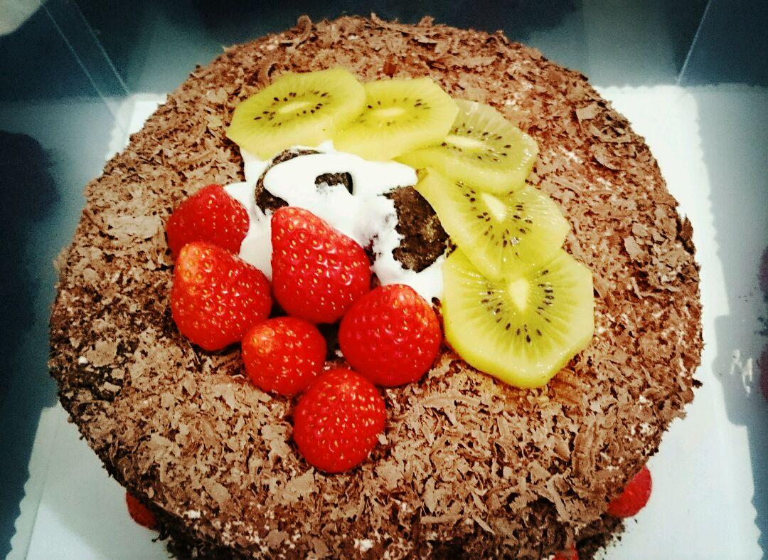 欧式两层蛋糕图片