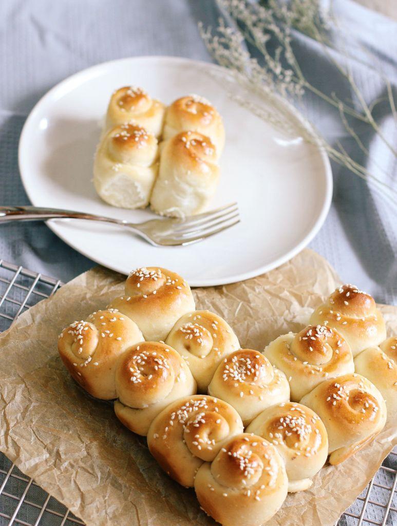 东菱电烤箱之蜂蜜脆底小面包的做法图解16