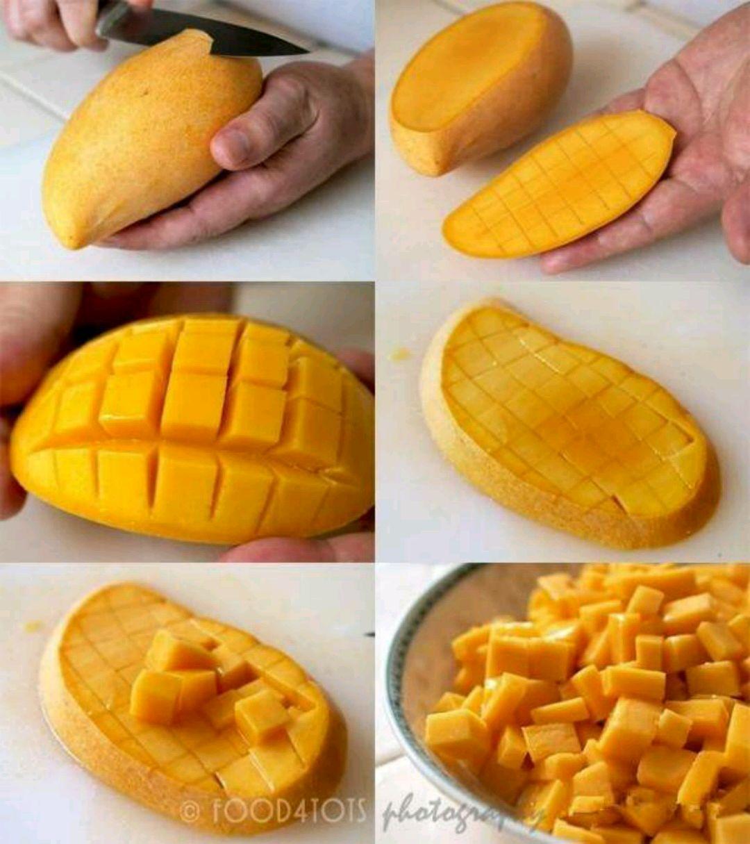 搭配点水果不会腥,我加了芒果,⊙▽⊙芒果丁的切法.