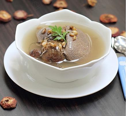 山楂麦芽猪横利汤