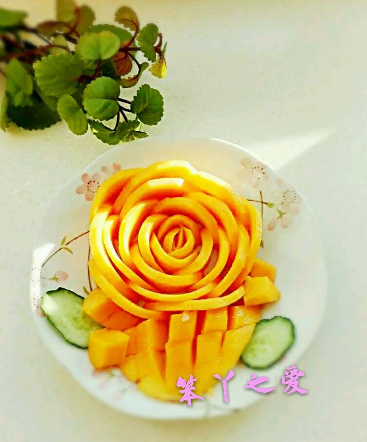 玫瑰水果花的做法_【图解】玫瑰水果花怎么做如何做