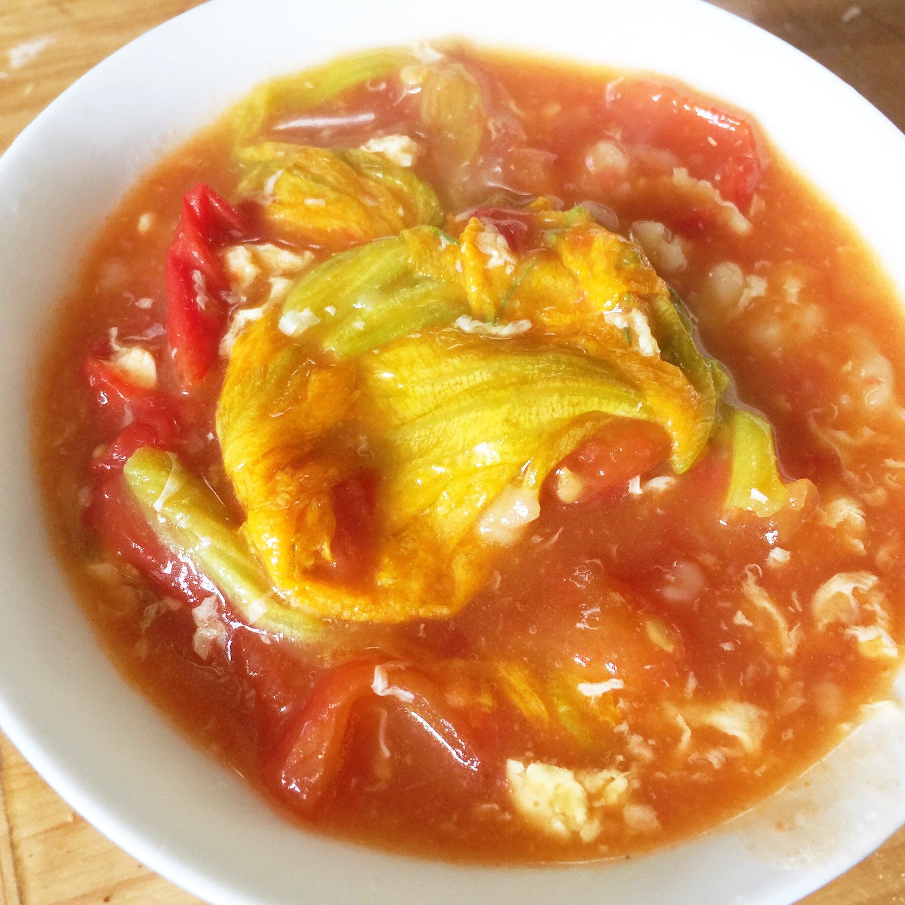 南瓜花疙瘩汤的做法图解9