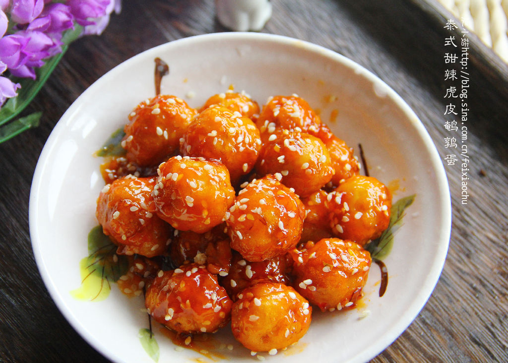 泰式甜辣鹌鹑虎皮蛋#十二道锋味复刻春季喝绿豆汤图片