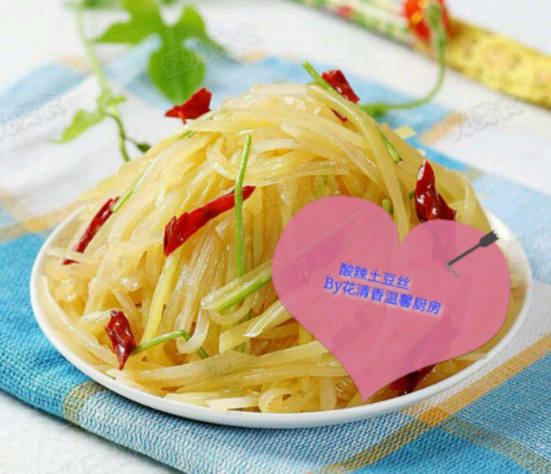 蒜2个适量 盐2小勺,白醋1小盖,味精1小勺适量 酸辣土豆丝的做法步骤