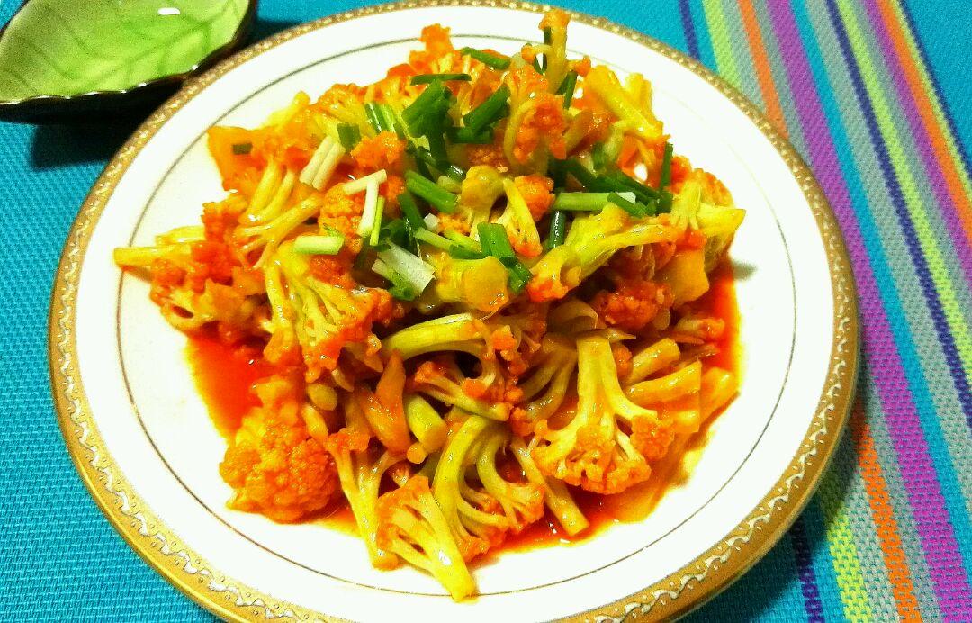 番茄菜花的做法_【图解】番茄菜花怎么做如何做好吃