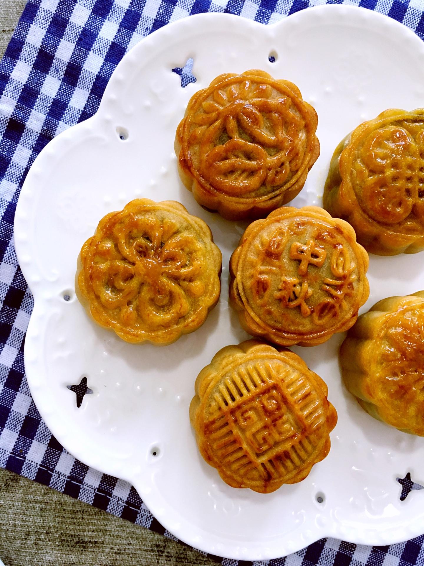 手作月饼#广式蛋黄豆沙月饼的做法图解20