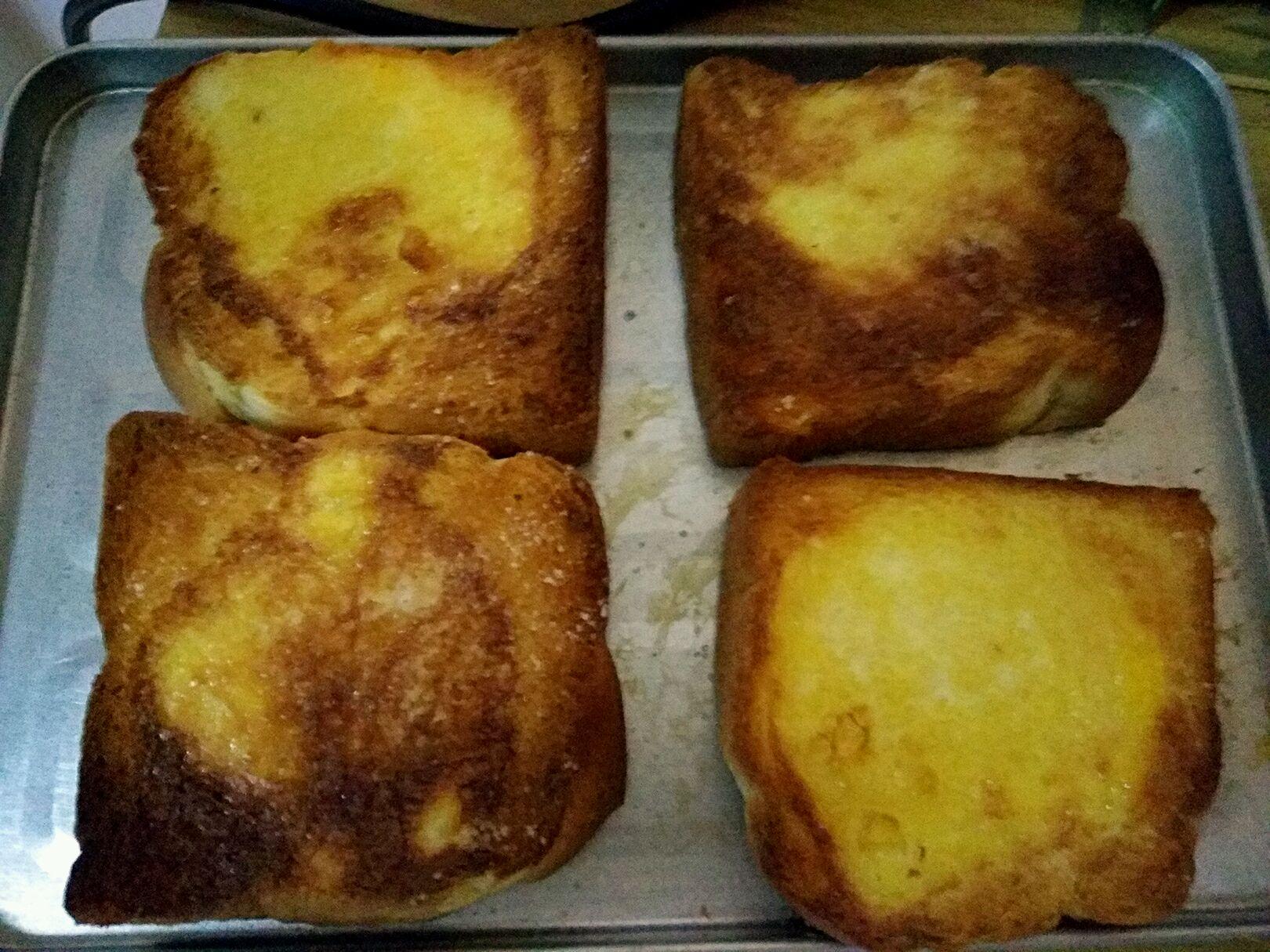 主料 面包 砂糖 烤面包的做法步骤