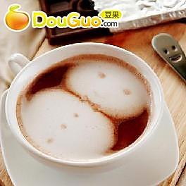 雪人巧克力咖啡的做法
