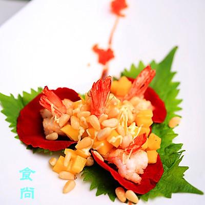 玫瑰松子芒果虾的做法_【图解】玫瑰松子芒果虾怎么做