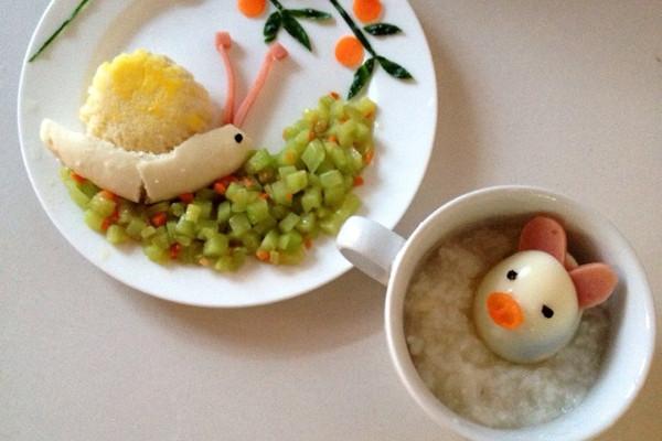 宝宝早餐食谱:前进的蜗牛 小猪泡澡