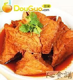 卤三角油豆腐的做法