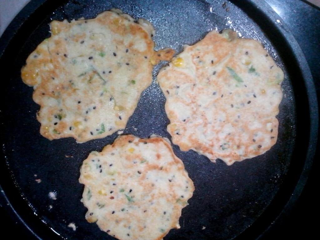 豆渣玉米粒饼的做法图解4