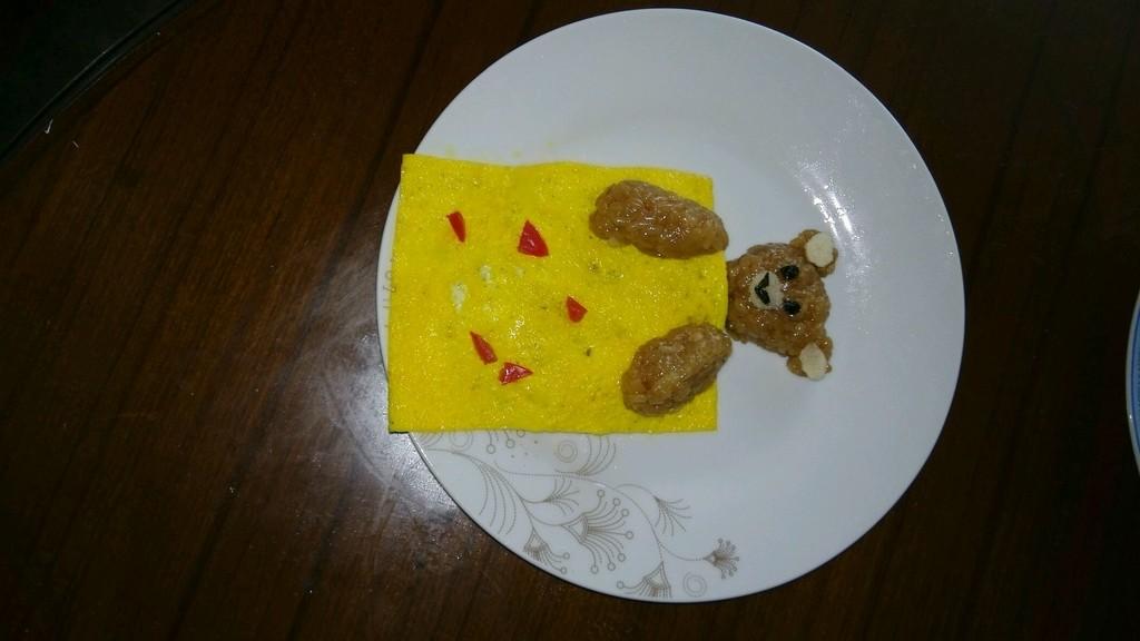 宝宝食谱:小熊盖被粽子的做法图解3