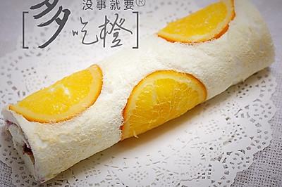 橙香天使蛋糕卷