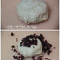 红豆浆蔓越莓司康的做法图解3