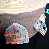 卡通树桩屋蛋糕#豆果5周年#的做法图解8