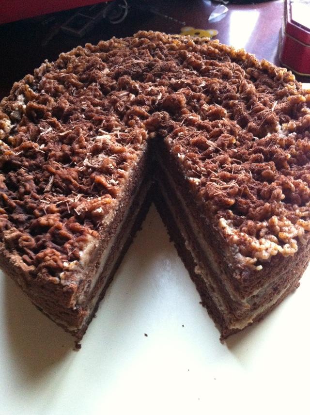 栗子巧克力蛋糕的做法