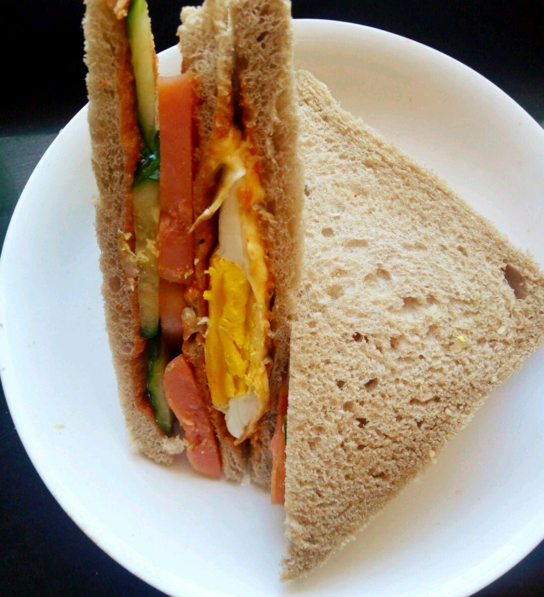 三明治(元气早午餐)的做法图解8