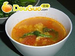 南北皆爱的蕃茄鸡蛋汤的做法