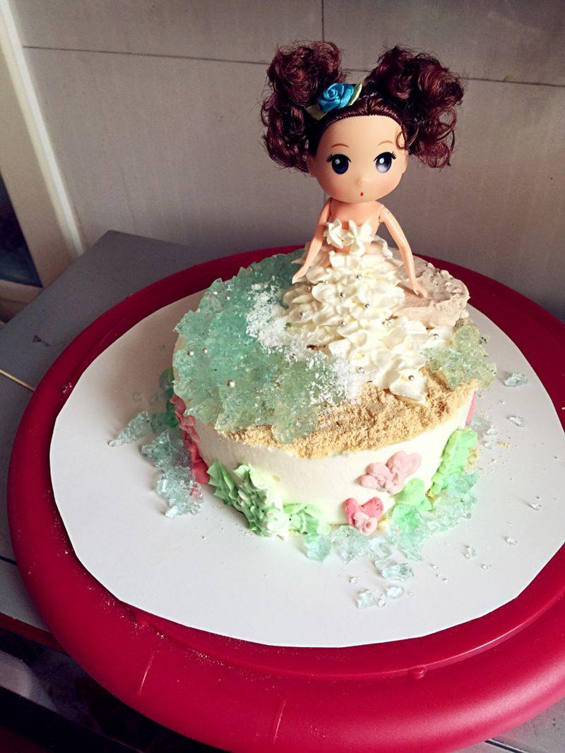 美人鱼慕斯蛋糕图片