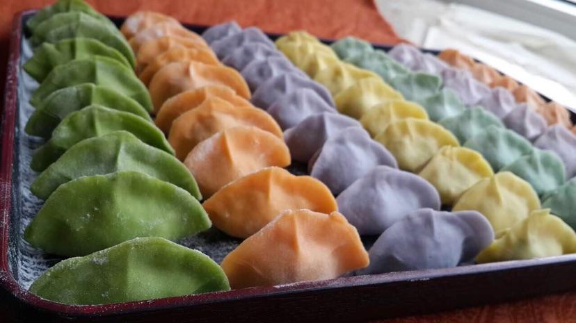 七彩水饺的做法步骤