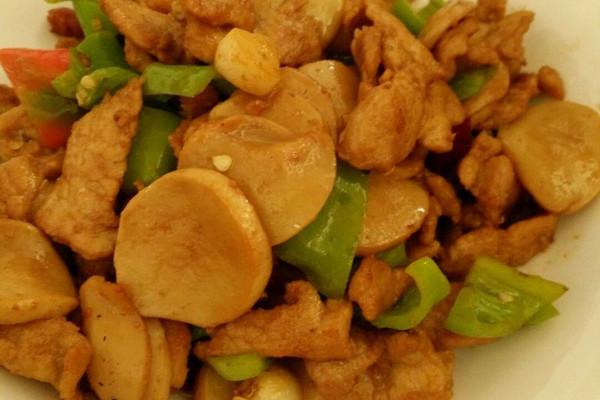 【图】杏鲍菇炒肉|杏鲍菇炒肉的菜谱教程_图老腊肉又叫天子胙图片