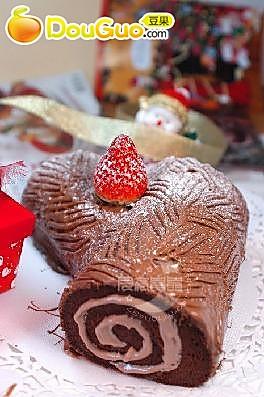 圣诞树根蛋糕的做法
