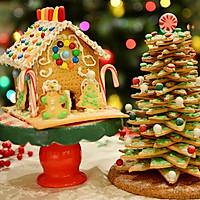 童话世界-圣诞姜饼屋和圣诞树的做法图解28