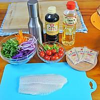嫩煎鱼柳沙拉#丘比沙拉汁#的做法图解1