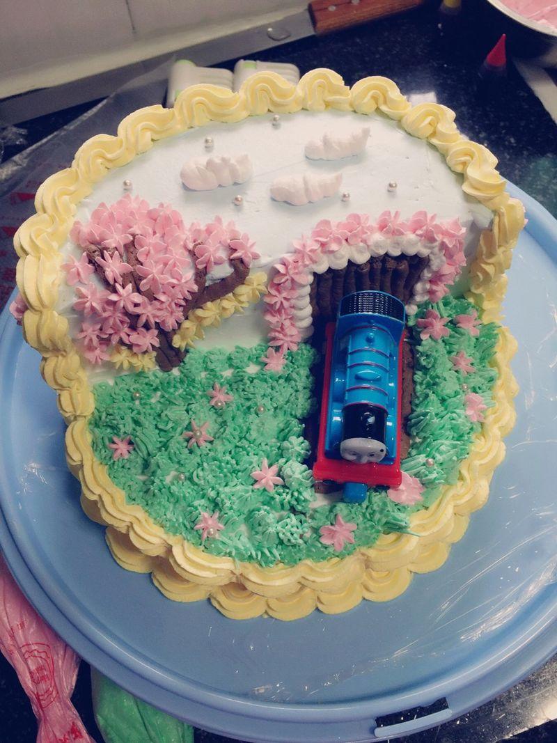 托马斯水果蛋糕#豆果5周年图片