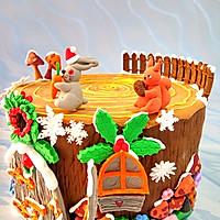 卡通树桩屋蛋糕#豆果5周年#的做法图解14