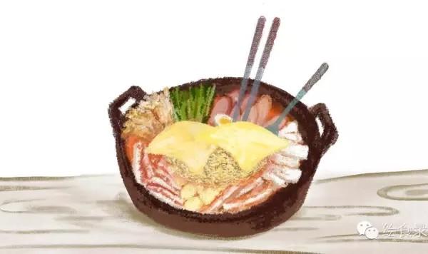 葱适量 洋葱适量 金针菇适量 泡菜适量 韩国辣椒酱适量 手绘食谱:韩式