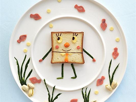 可爱的海绵宝宝早餐