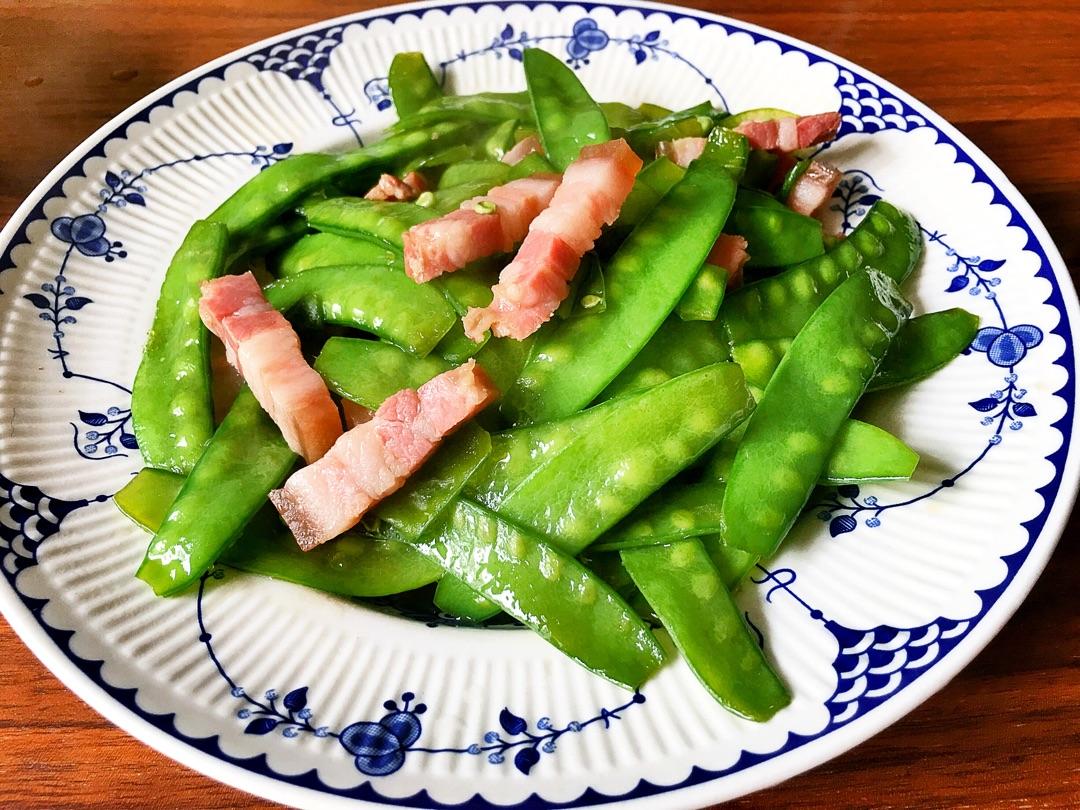 咸肉炒荷兰豆的做法_【图解】咸肉炒荷兰豆怎么做如何