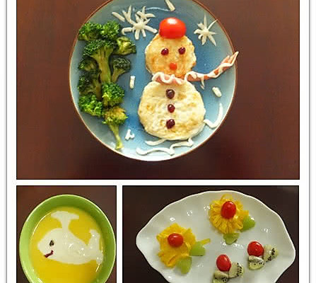 辅料   番茄酱 小番茄 雪人儿童早餐的做法步骤 分类:        本菜谱