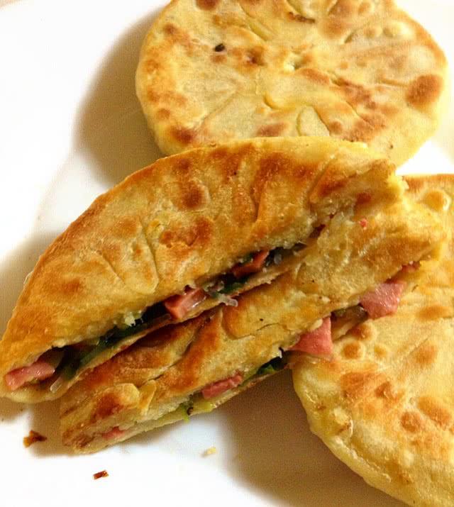 美味火腿馅饼的做法_【图解】美味火腿馅饼怎么做如何