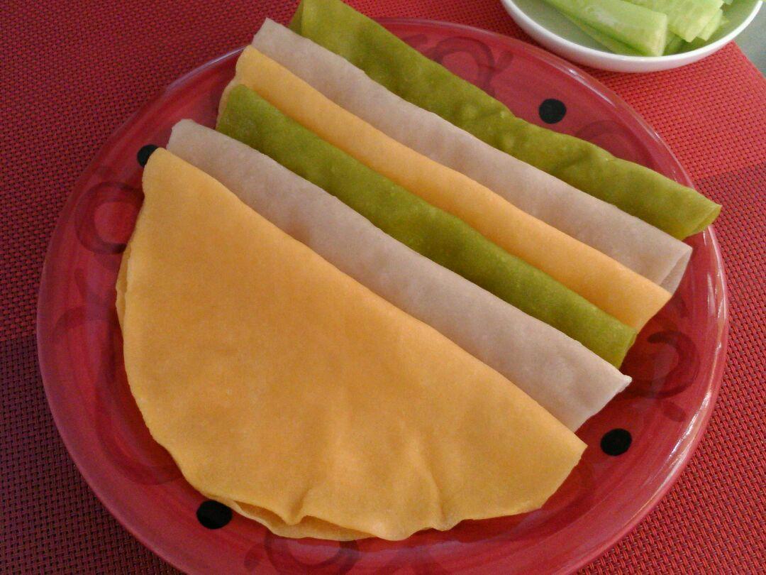 三色春饼荷叶蒸饼的做法图解8